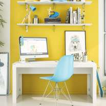 Mesa para Escritório Branco Office