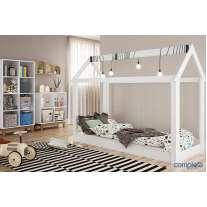 Cama Casinha Montessoriana Completa Móveis Branco