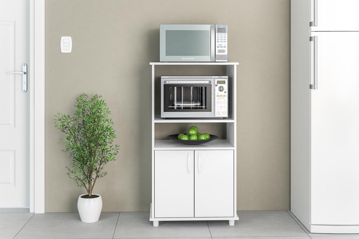 Balc o para cozinha blumenau branco politorno - Mesas para microondas ...